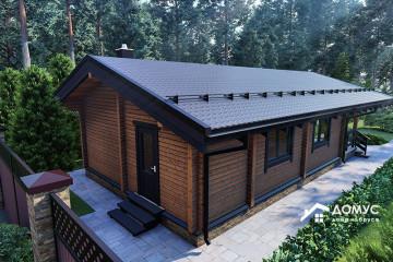 Проект финского деревянного дома с сауной