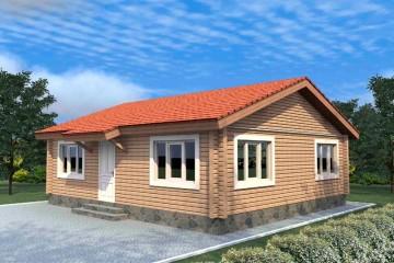 Проект одноэтажного дома 8 на 9 из клееного бруса