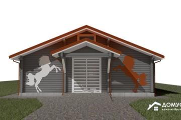 Проект деревянной конюшни