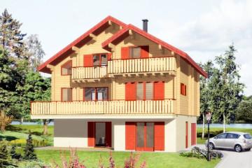 Деревянные финские дома с гаражом