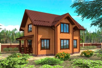 Проект двухэтажного дома 10 на 14 из клееного бруса