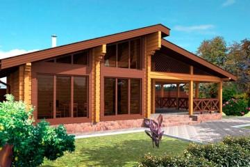 Проект современной деревянной бани из бруса