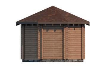 Проект деревянного гриль домика из клееного бруса «БСГ-1»