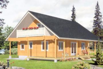 Деревянные финские дома с балконом