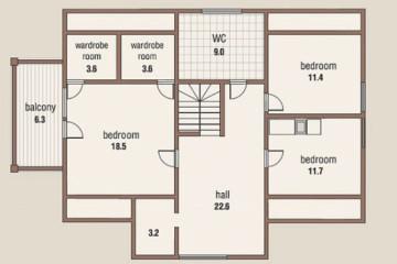 Проект двухэтажный дом 10 на 15 из клееного бруса