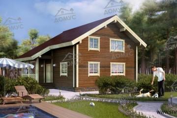 Проект двухэтажного дома 9 на 10 из клееного бруса