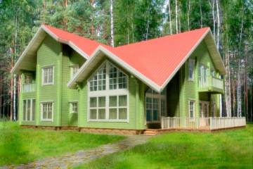 Проект финского дома 11 на 20 267 кв. м из клееного бруса