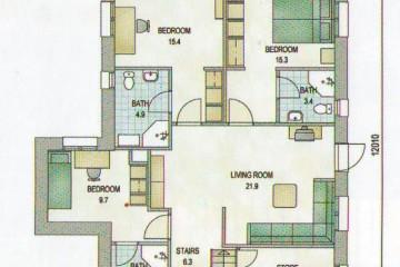 Проект трехэтажного дом 8 на 12 из клееного бруса
