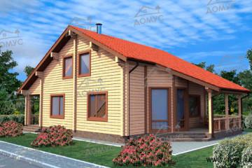 Проект деревянного дома с эркером из клееного бруса