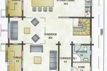 Проект дома со вторым светом 150 кв.м из клееного бруса