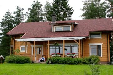 Проект двухэтажного финского дома из клееного бруса