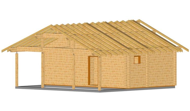 Проект одноэтажной бани 8 на 8 из клееного бруса