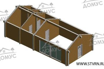 Проект деревянной бани 5 на 11 из клееного бруса