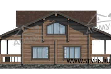 Проект финского деревянного дома из клееного бруса
