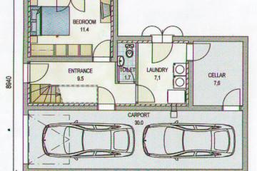 Проект дома из клееного бруса с мансардой и гаражом