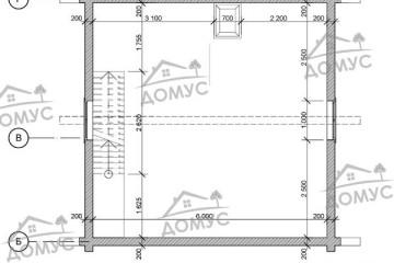 Проект бани 6 на 8 двухэтажный из клееного бруса