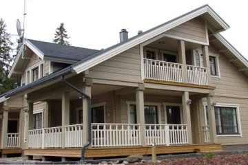 Проект двухэтажного дома 250 кв. м из клееного бруса