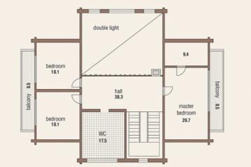 Проект дома шале со вторым светом