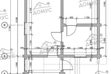Проект одноэтажной бани 6 на 7 из клееного бруса
