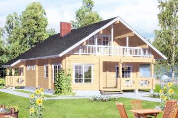 Проект двухэтажного дома 150 кв. м из клееного бруса