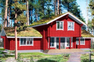 Проект двухэтажного финского дома 130 кв. м из клееного бруса