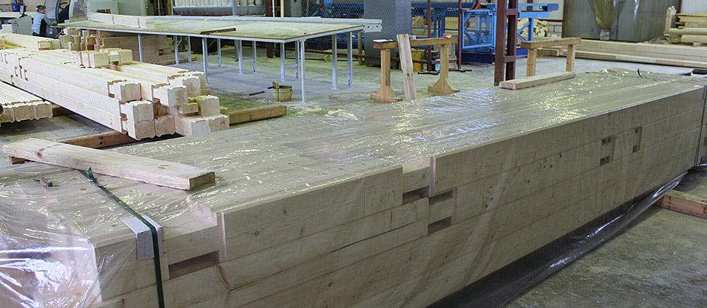 Клееный брус — от производства до изготовления любых конструкций