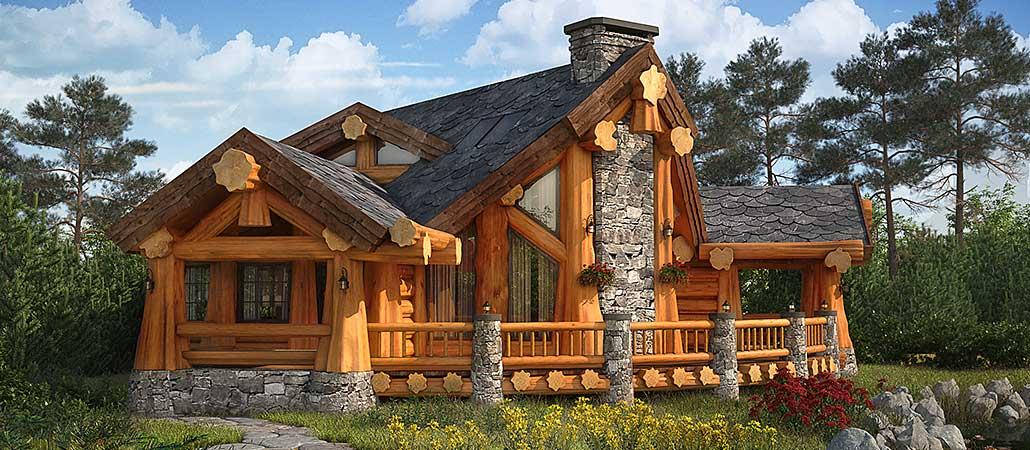 Различные деревянные дома (ч. 1)