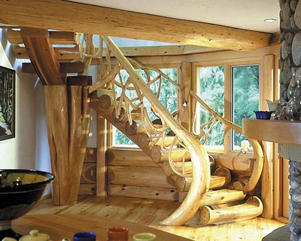 Бревенчатая лестница