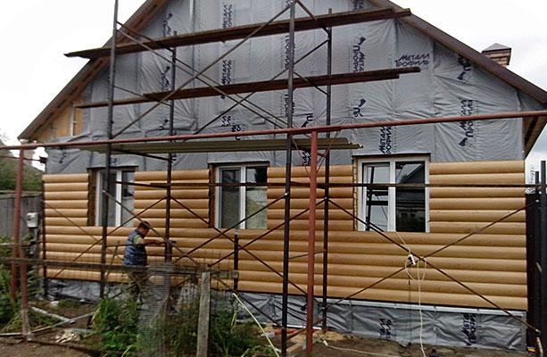 Этапы монтажа отделки деревянного дома
