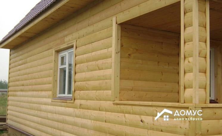 Отделка деревянного дома блок-хаусом