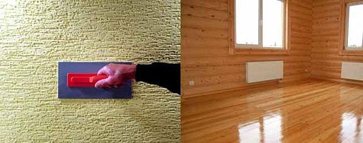 Штукатурка деревянного дома
