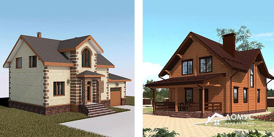 Какие дома теплее: деревянные или кирпичные