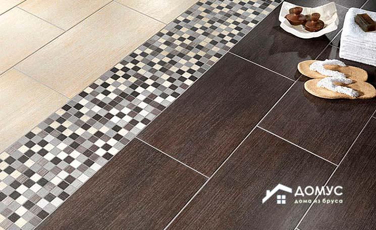 Керамическая плитка на пол в ванной