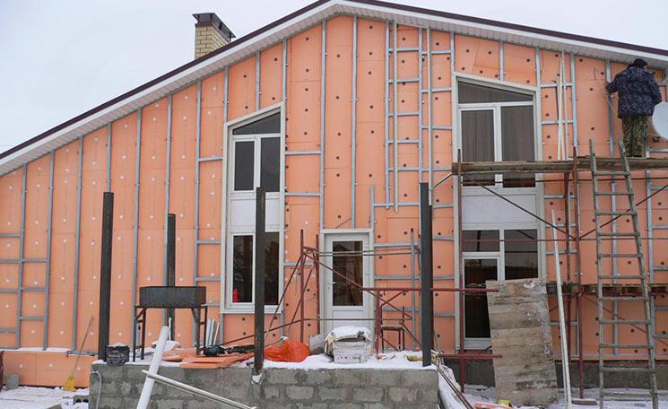 Утепление деревянного дома экструдированным пенополистиролом