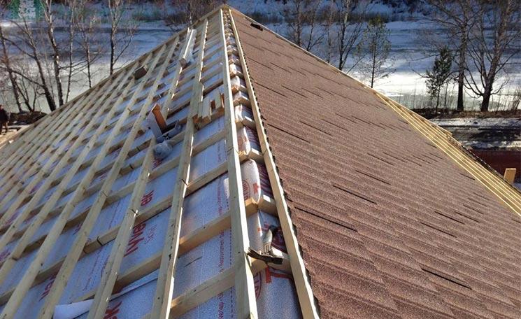 Обрешетка крыши дома